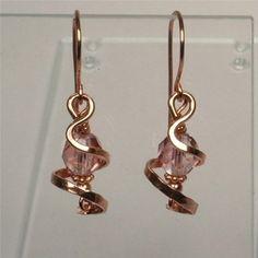 Copper+Wire+Jewelry | Handmade Copper Wire Dangle Earrings | BaWDesigns - Jewelry on ArtFire