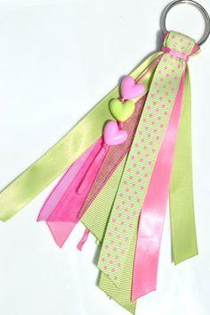 Pink Lemonade Ribbon Keychain. $6.00, via Etsy.
