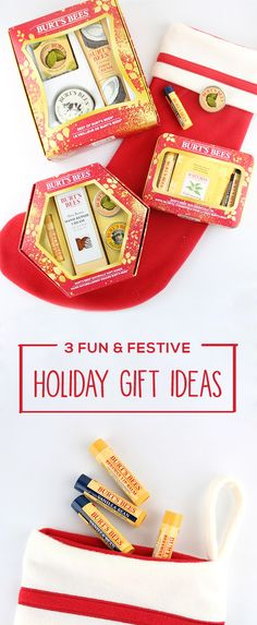 There's nothing better than crossing off your holiday shopping list with presents you know your mom, sister, and close friends will love! That's why this collection of 3 Fun and Festive Holiday Gift Ideas is here to inspire you with thoughtful collections of natural products to help pamper, indulge, relax, and celebrate the wonderful women in your life. For more gift ideas for her, check out Target and their selection of Burt's Bees holiday sets.