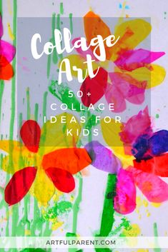 Over 50 collage art ideas for kids! Collage, or the assemblage of different materials, is one of the foundation art activities for childhood.