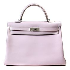 Hermes Authentic Hermes 35 Cm Rose Dragee Kelly Bag ❤ liked on Polyvore