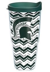 Michigan State Spartans 24oz Chevron Tumbler