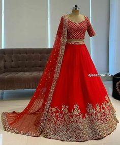 Lehenga Choli Wedding, Wedding Lehenga Designs, Red Lehenga, Party Wear Lehenga, Ghagra Choli, Punjabi Lehenga, Lengha Saree, Lengha Dress, Anarkali Suits