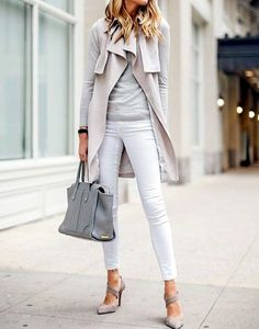 something about a tone on tone outfit that i love! Wish i could wear heels like this all the time!