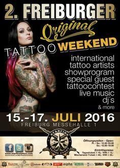 Freiburger Tattoo Week-end 15 - 17 Juillet 2016