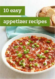 10 Easy Appetizer Recipes – Sure, we say these easy appetizer recipes are for parties—but we have a broad definition of party. Our feeling is, parties spring up naturally when you put out tasty dips, cheese balls, and bacon-wrapped appetizers.