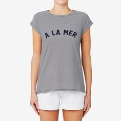 Shop now: A La Mer T-Shirt. #seedheritage #newarrivals #woman Seed Heritage, Navy Stripes, Capsule Wardrobe, Shop Now, T Shirt, Women Wear, Woman, Spring, Tees