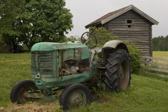 Image detail for -Stock Photo - Old abandoned rusty tractor in front of Old farmer's ...