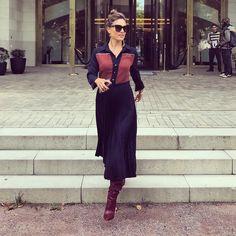 "3,294 Likes, 38 Comments - Nazan Eckes - official (@eckes.nazan) on Instagram: ""my business-look in #frankfurt #buchmesse #job @beatricebitalia #styling @lailahamidi #dress…"""