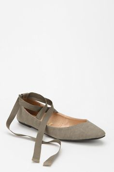 UrbanOutfitters.com > Kimchi Blue Sweetheart Ankle Tie Skimmer