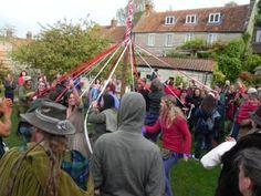 Dancing the maypole