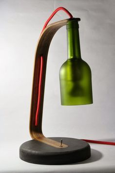 Wine Bottle Desk Lamp