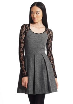 2B. RYCH  Lace Sleeve Pleated Dress
