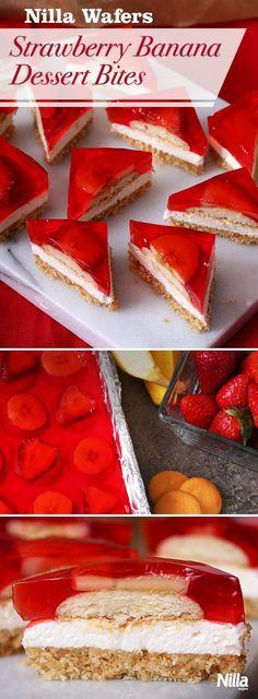 Authentic NILLA Strawberry-Banana Dessert Bites Recipe, ,