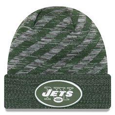 Men s New York Jets New Era Green 2018 NFL Sideline Cold Weather Official  TD Knit Hat c258167f6