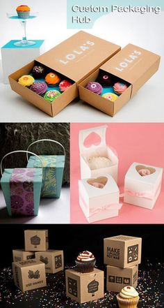 Offer High Quality Custom Boxes to make your Product a Brand Cupcake Packaging, Dessert Packaging, Bakery Packaging, Food Packaging Design, Brand Packaging, Gift Packaging, Food Box Packaging, Custom Printed Boxes, Custom Boxes