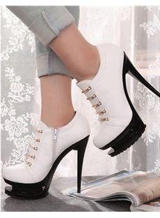 ✿ܓ Stunning Womens Shoes / 2013 Fashion High Heels High Heels Boots, Lace High Heels, White High Heels, Shoe Boots, Shoes Heels, Pumps, Flat Shoes, Bootie Heels, Sexy Heels