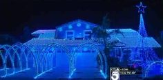 A festive Fountain Valley woman's blinding, deafening outdoor Christmas display has been the center of attention and controversy as of late.    Summoning her best Clark Griswold for the second time, Jan Stewart covered her home with 65,558 Christmas lights this holiday season, reports KTLA. Dedicated to her late husband, the spectacular includes 16 lighted arches and 2,000 feet of cable. And better yet, she synced the twinkling bulbs to Christmas music.