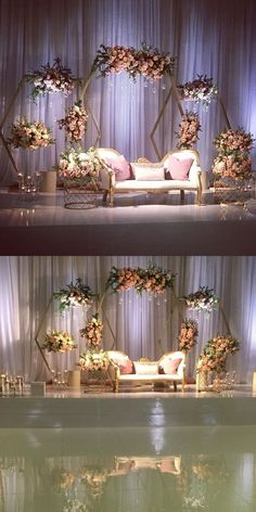 New decor wedding stage Ideas Wedding Stage Decorations, Wedding Backdrop Design, Wedding Stage Design, Wedding Reception Backdrop, Wedding Mandap, Engagement Party Decorations, Backdrop Decorations, Wedding Backdrops, Debut Stage Decoration