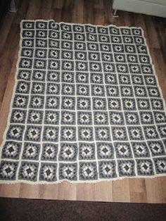 Isoäidin neliö viltti 10x12 neliötä