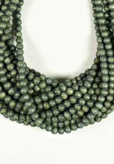 Monies 18 Strand Lightwood Beaded Necklace