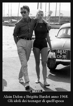 "alain-de-loin: "" Let met get this straight for everyone : this has NEVER been Alain Delon. This is Jacques Charrier. This literally is Jacques Charrier and Brigitte Bardot. This is not Alain Delon. Bridget Bardot, Brigitte Bardot, Alain Delon, Saint Tropez, Jacques Charrier, Moda Rock, Lauren Hutton, Catherine Deneuve, French Actress"