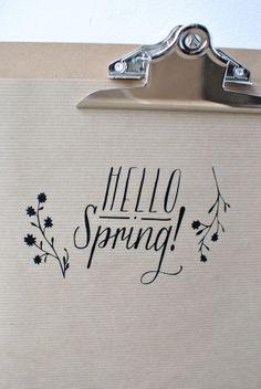 "sticker ""hello spring"" - simply factory"