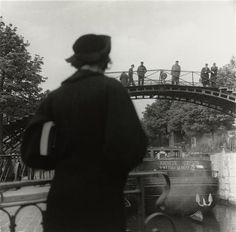 "Bateau (""Radieux"" sur Canal St-Martin) by Florence Henri Florence Henri, Black White Photos, Black And White, Brassai, Robert Doisneau, Kandinsky, Paris, Vintage Photography, Futuristic"