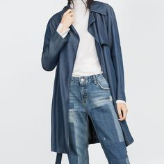 """SALE!💥Zara Denim Coat LAST ONE LEFT!! Popular long denim coat, great for layering! Pics are of the actual coat itself. No trades•  🦄If you would like to make an offer click on the OFFER link below and I may consider.           Please don't ask , """"what's your lowest?"""", that's what the price is for on each listing.                                                              Thank you🌙 Zara Jackets & Coats"""