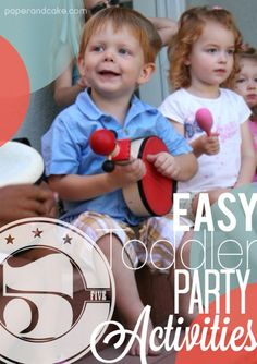 5 Easy Toddler Party Activities for Boys and Girls!