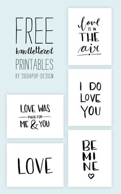Valentinstags-Freebies Free Printable Valentinstag & Valentine & Handlettering by sodapop-design.de The post Valentinstags-Freebies appeared first on Home decor. Valentines Day Decorations, Valentine Day Cards, Happy Valentines Day, Cadre Diy, Ideas Scrapbook, Handmade Scrapbook, Project Life Cards, Project Life Freebies, Free Prints