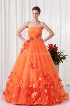 Orange fiesta militar piso de longitud satinado vestidos especiales de la ocasion  #vestidosdebaile #vestidosde15años  #vestidodefiesta