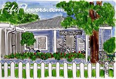 A Bohemian Cottage painted by Fifi Flowers