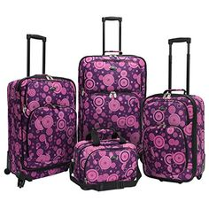 Luggage Sets Collections | The Set of Classic Purple Us Traveler Fashion 4 Piece Spinner Luggage Set * You can find out more details at the link of the image.(It is Amazon affiliate link) #nofilter