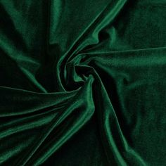Hunter Green Velvet Stretch Fabric