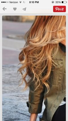 Red with blond highlights