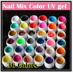 Find More Nail Gel Information about Professional New 36 Mix Colors Nail Art UV gel Pure + Glitter Powder+ Shimmer Colorful Nail Gel UV gel set,High Quality Nail Gel from Show Your Charm Store on Aliexpress.com
