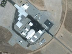 Now, the airbase has a 5,000-feet runway and a large hangar (pictured). It houses aircraft tests for federal agencies such as the Department of Defense and that of Homeland Security