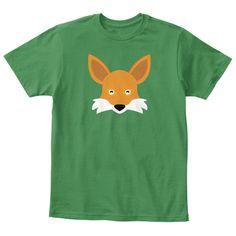 Fox Child Tee | Funny Kids Tshirt Kelly Green  T-Shirt Front #funny kids dress #kids party dress #kidstshirts
