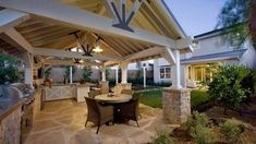 36 Backyard Pergola and Gazebo Design Ideas Backyard Kitchen, Outdoor Kitchen Design, Backyard Patio, Backyard Ideas, Patio Roof, Landscaping Ideas, Outdoor Rooms, Outdoor Dining, Outdoor Decor