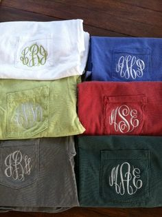 monogrammed comfort T-shirts! I want them(: