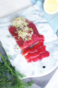 Beetroot salmon gravlax