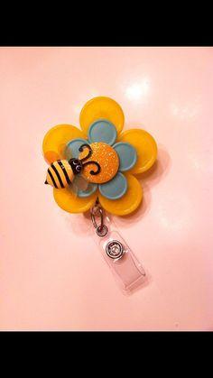 NURSE Bumble Bee RN ID badge holder by CHEERUPyouruniform on Etsy