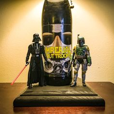 Star Wars inspired beer bottle lamp