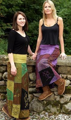Boho Patchwork Skirts