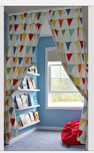 What a great way to use the space created by a dormer window! This could be a reading or study area - or a stage!