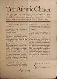 The Atlantic Charter broadside, designed by W.A. Dwiggins $2,500