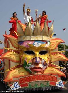 Goa Carnival is famous festival of Goa. It is non-stop 3days festival of color, song & music providing leisure for all young and old people.