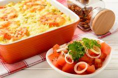 Különleges olasz rakott krumpli fűszeres, paradicsomos szósszal és sok sajttal Hungarian Recipes, Hungarian Food, Cantaloupe, Mashed Potatoes, Macaroni And Cheese, Healthy Recipes, Healthy Food, Fruit, Cooking