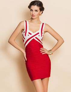 Red bodycon dresses #fashion #dress